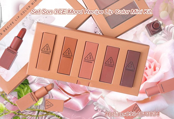 Set Son 3CE Mood Recipe Lip Color Mini Kit
