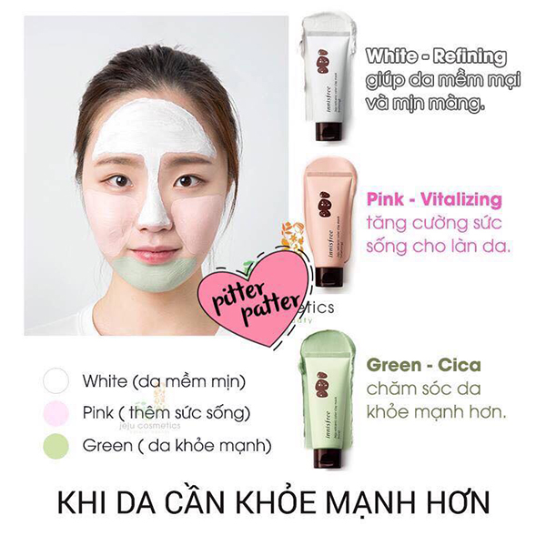 Mặt Nạ Innisfree Jeju Volcanic Color Clay Mask