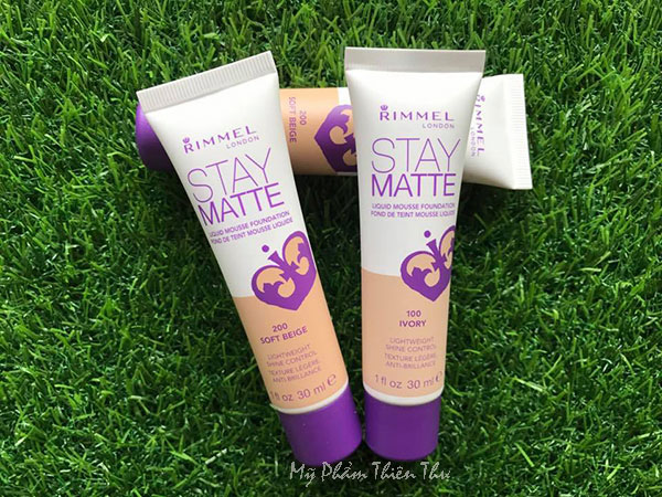 Kem Nền Rimmel Stay Matte Liquid Mousse Foundation