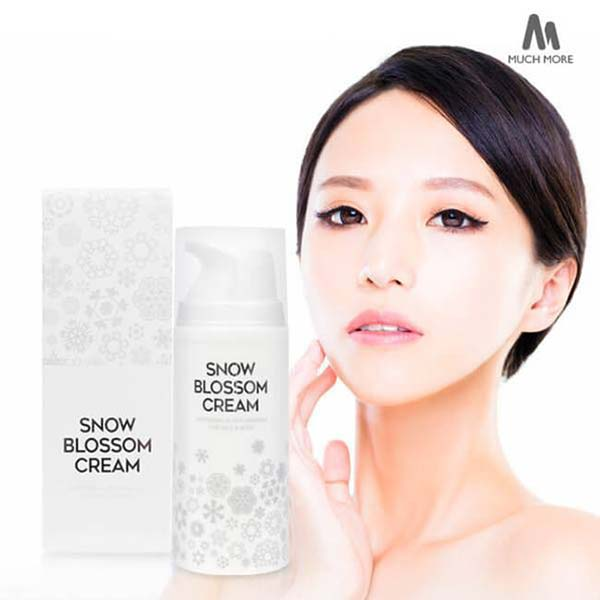 Much More Snow Blossom Cream