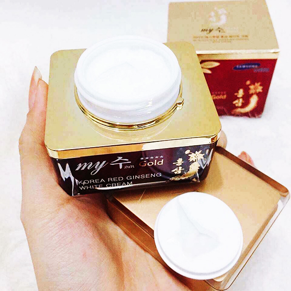 Kem Hồng Sâm My Gold Red Ginseng White Cream